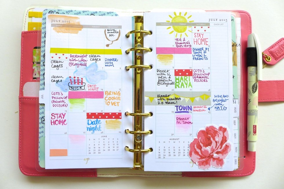 Planner Spread - July